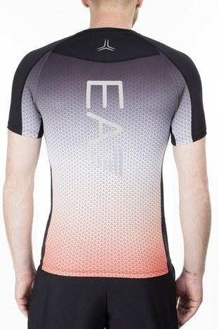 EA7 - EA7 Erkek T Shirt 3HPT18 PJ17Z 2601 Turuncu-Mor (1)