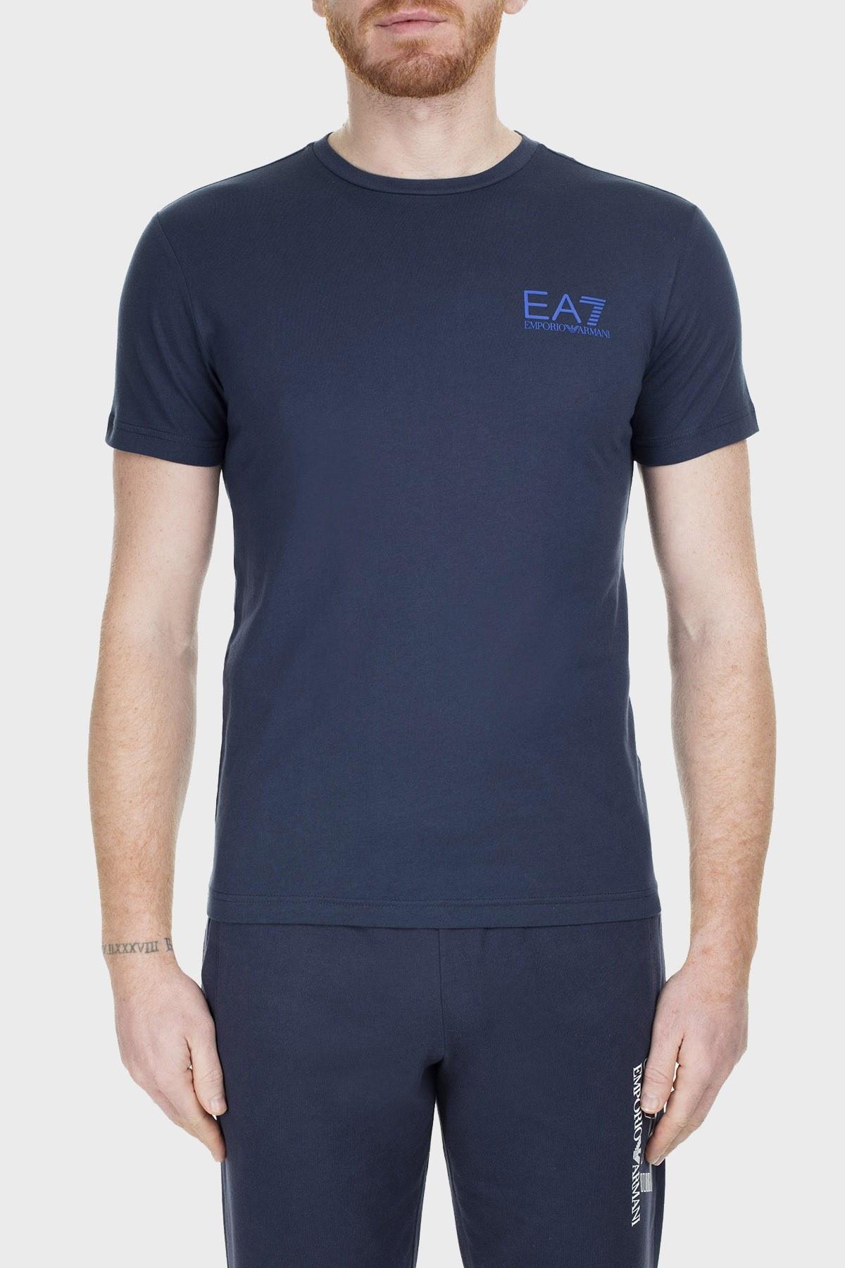 EA7 Erkek T Shirt S 3GPT05 PJ02Z 1554 LACİVERT