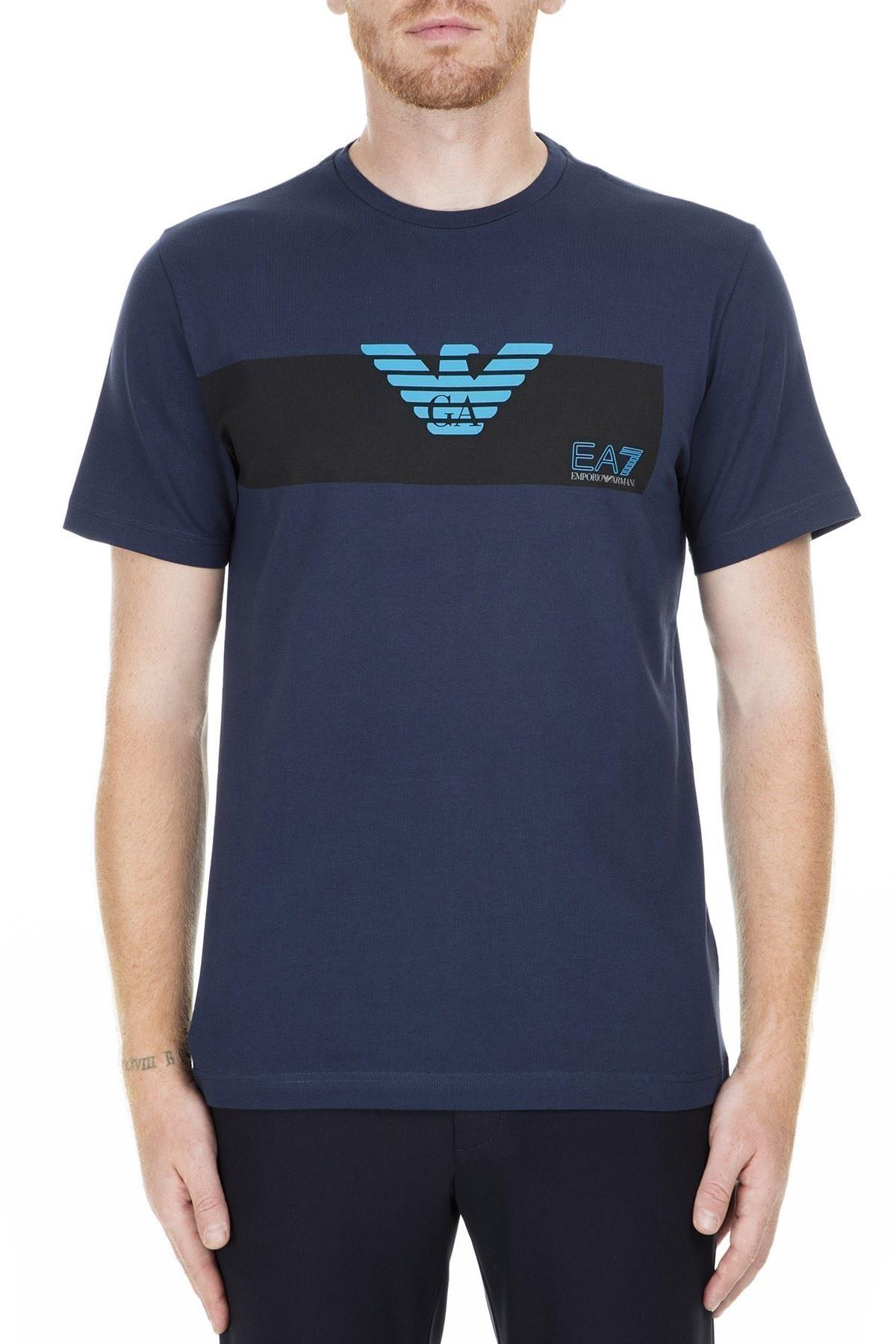 EA7 Erkek T Shirt S 3GPT10 PJP6Z 1554 LACİVERT