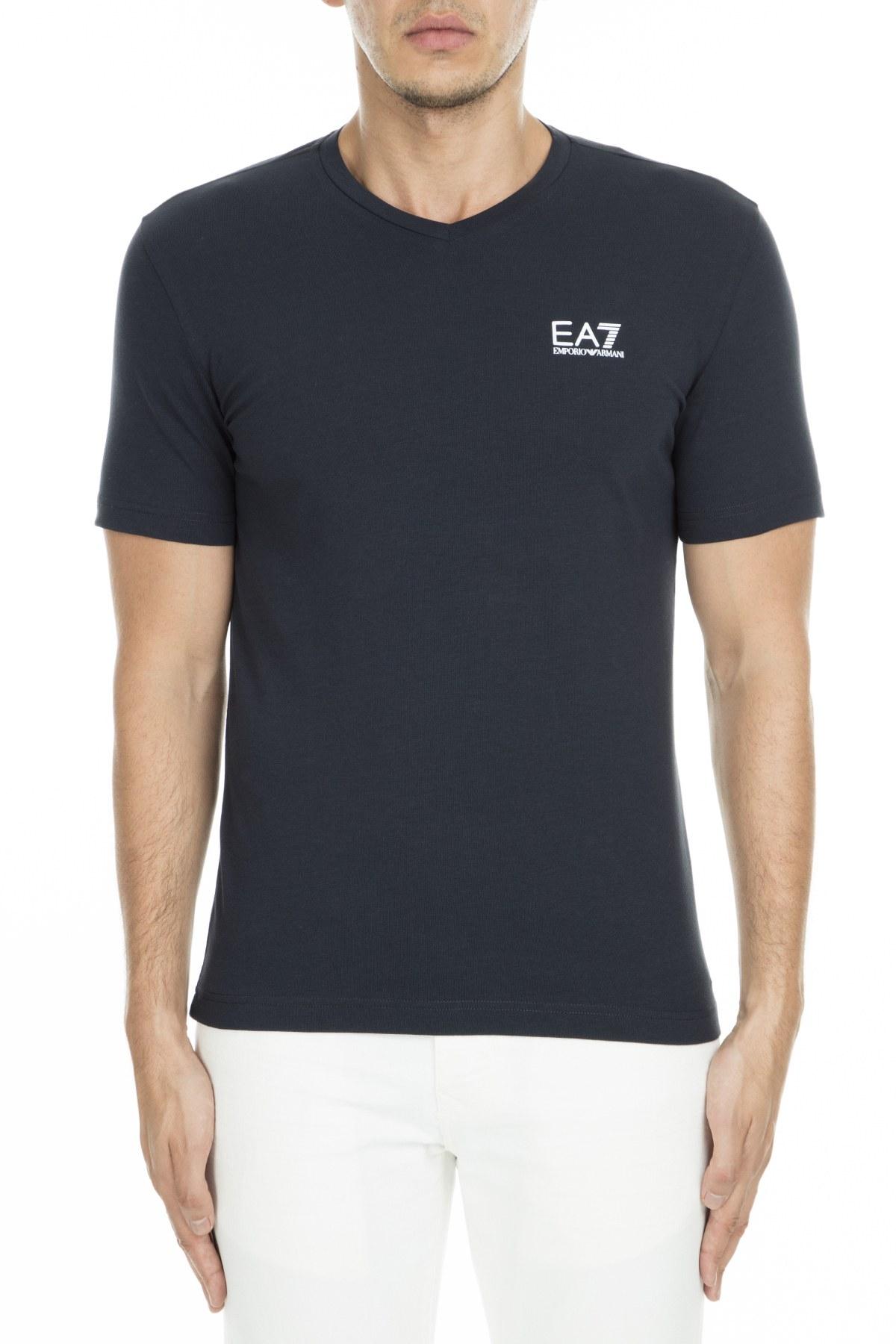 EA7 Erkek T Shirt S 3GPT53 PJM5Z 1578 LACİVERT