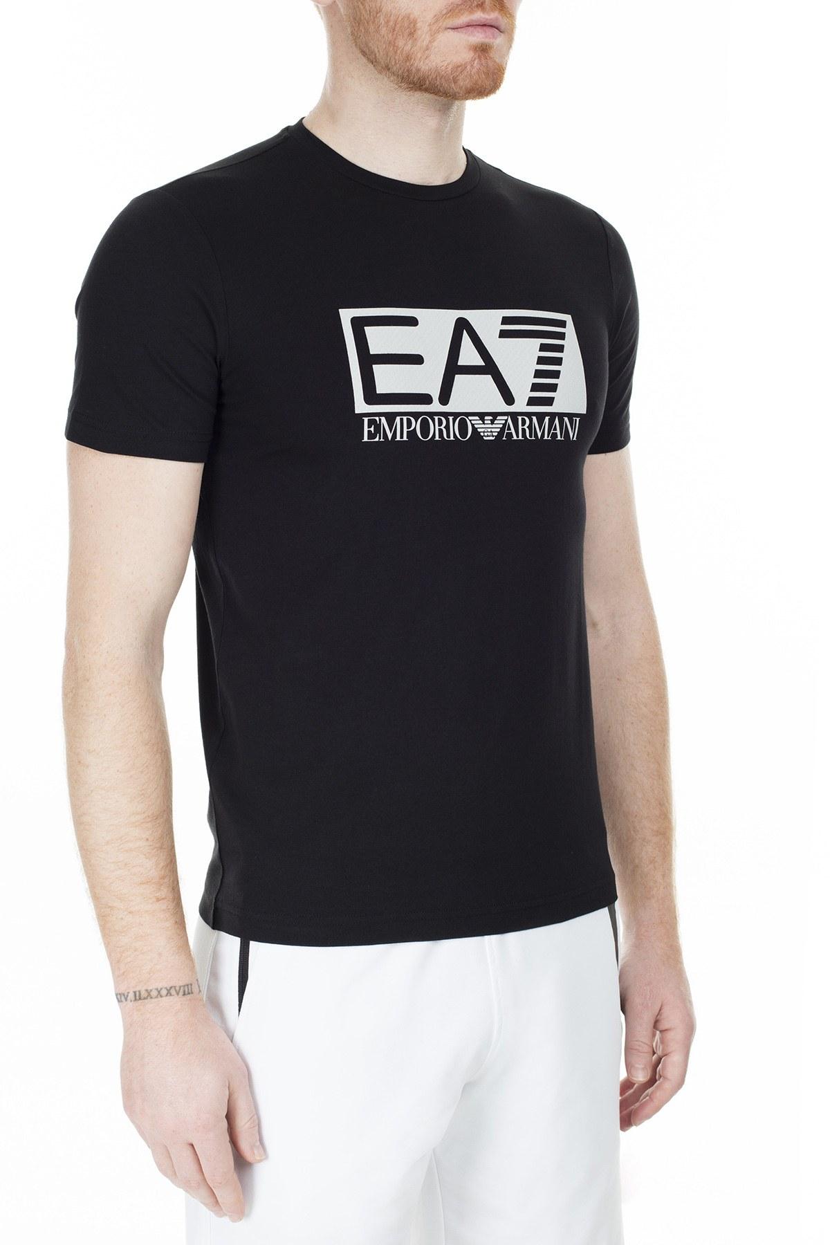 EA7 Erkek T Shirt S 3GPT62 PJ03Z 1200 SİYAH