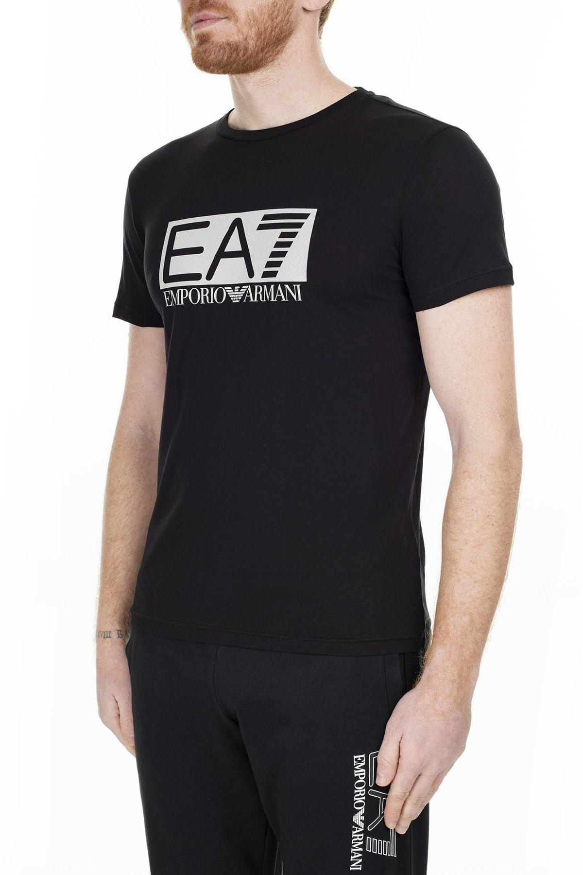 EA7 Erkek T Shirt S 3GPT81 PJM9Z 1200 SİYAH