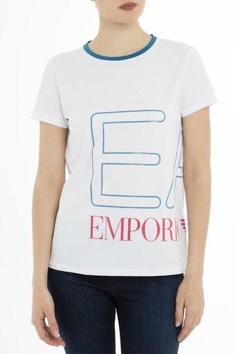 EA7 Kadın T Shirt 3GTT59 TJ29Z 1100 BEYAZ