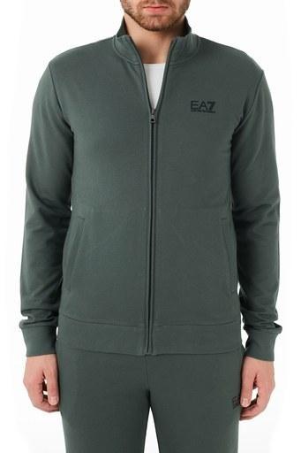 EA7 Marka Logolu % 100 Pamuklu Dik Yaka Eşofman Takım Erkek Eşofman Takımı S 8NPV51 PJ05Z 1984 YEŞİL