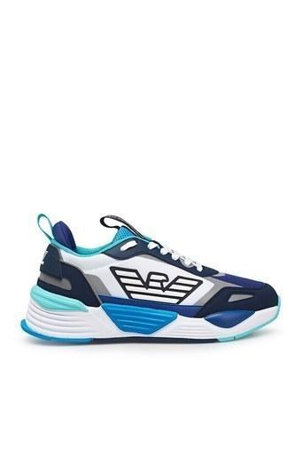 EA7 Marka Logolu Kalın Tabanlı Spor Unisex Ayakkabı X8X070 XK165 N342 BEYAZ-SAKS
