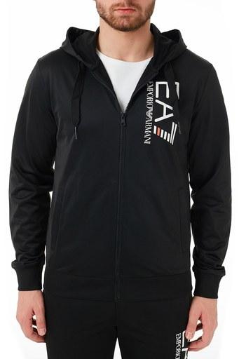 EA7 Marka Logolu Kapüşonlu Regular Fit Eşofman Takım Erkek Eşofman Takımı S 6HPV51 PJ08Z 1200 SİYAH