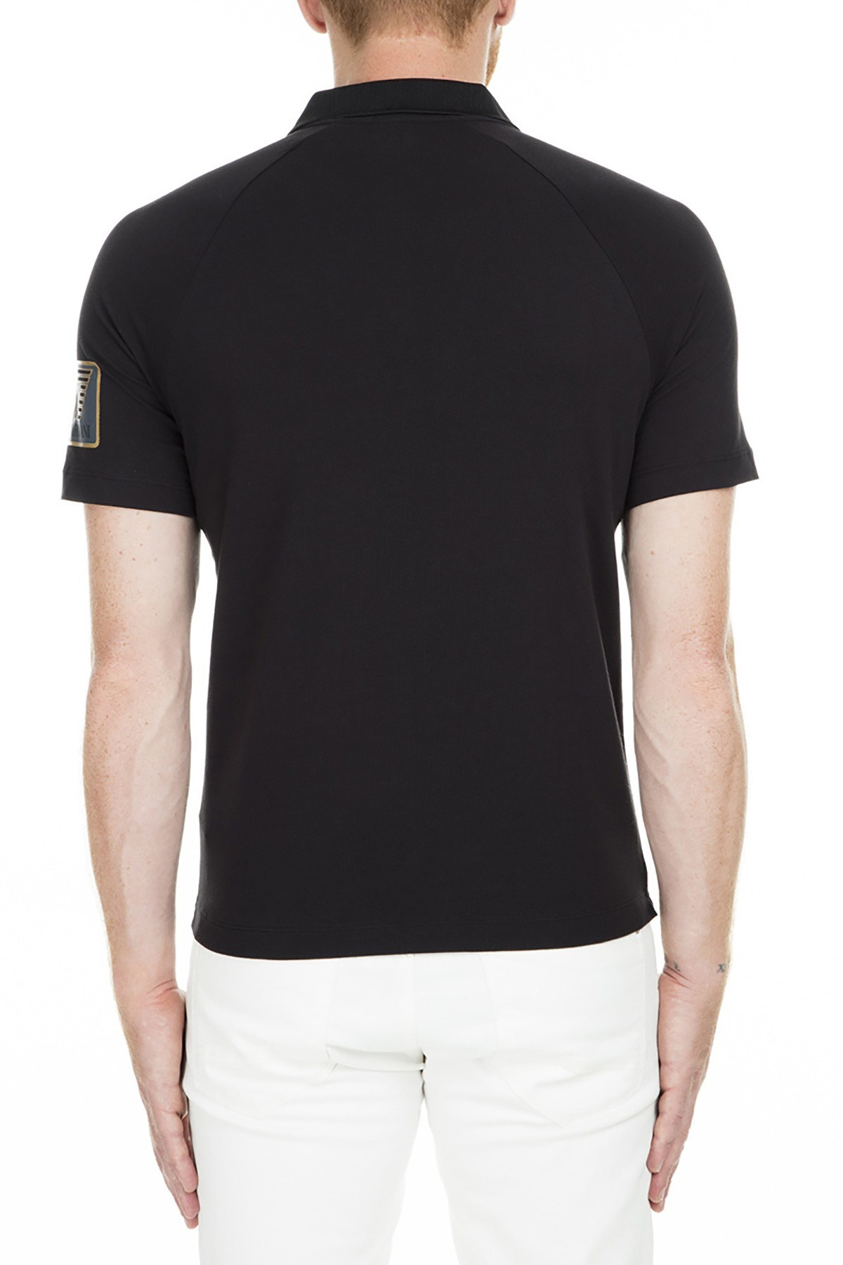 EA7 Polo Erkek T Shirt 6ZPF56 PJ03Z 1200 SİYAH