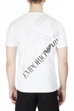 EA7 - EA7 Regular Fit Erkek T Shirt 3HPT12 PJ02Z 1100 BEYAZ (1)