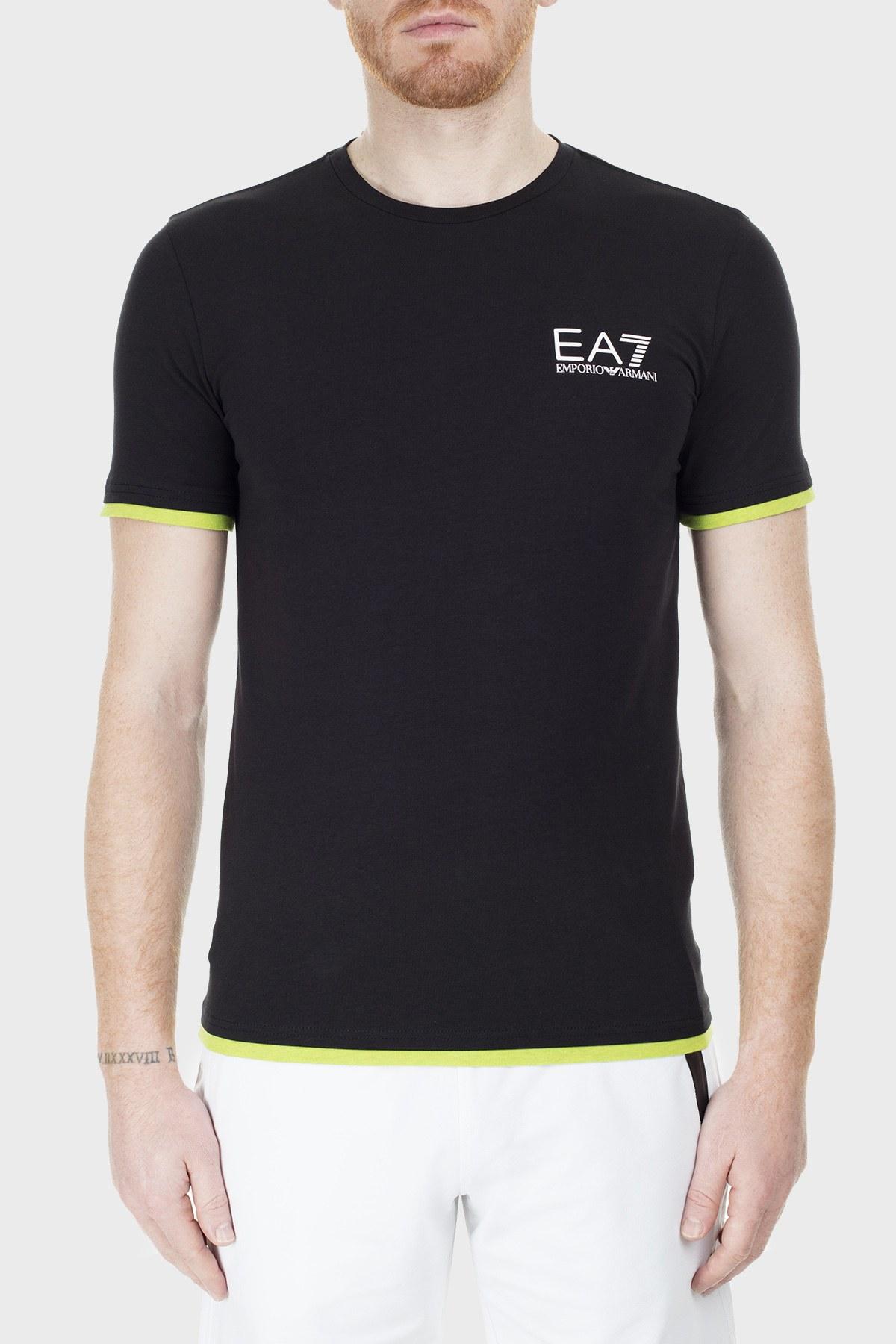 EA7 Regular Fit Erkek T Shirt S 6GPT02 PJ03Z 1200 SİYAH