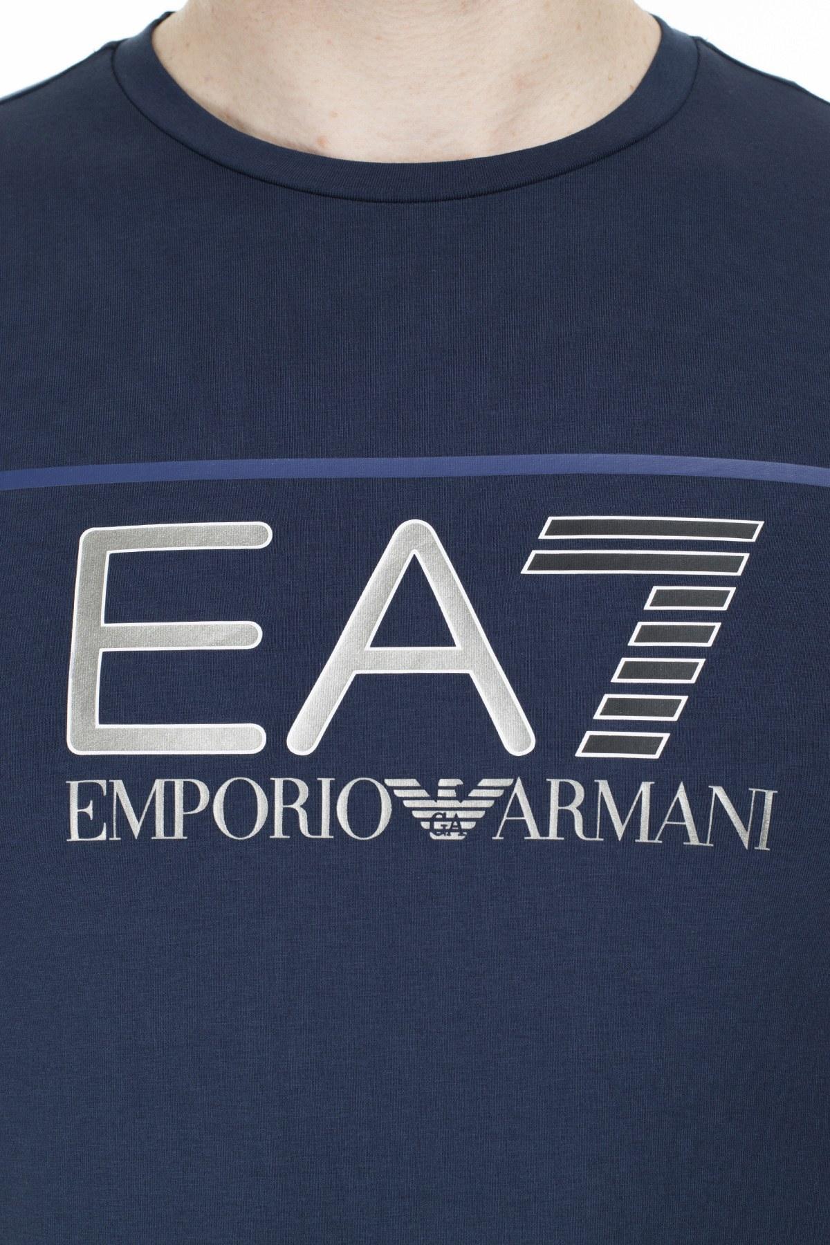 EA7 Regular Fit Erkek T Shirt S 6GPT09 PJ20Z 1554 LACİVERT