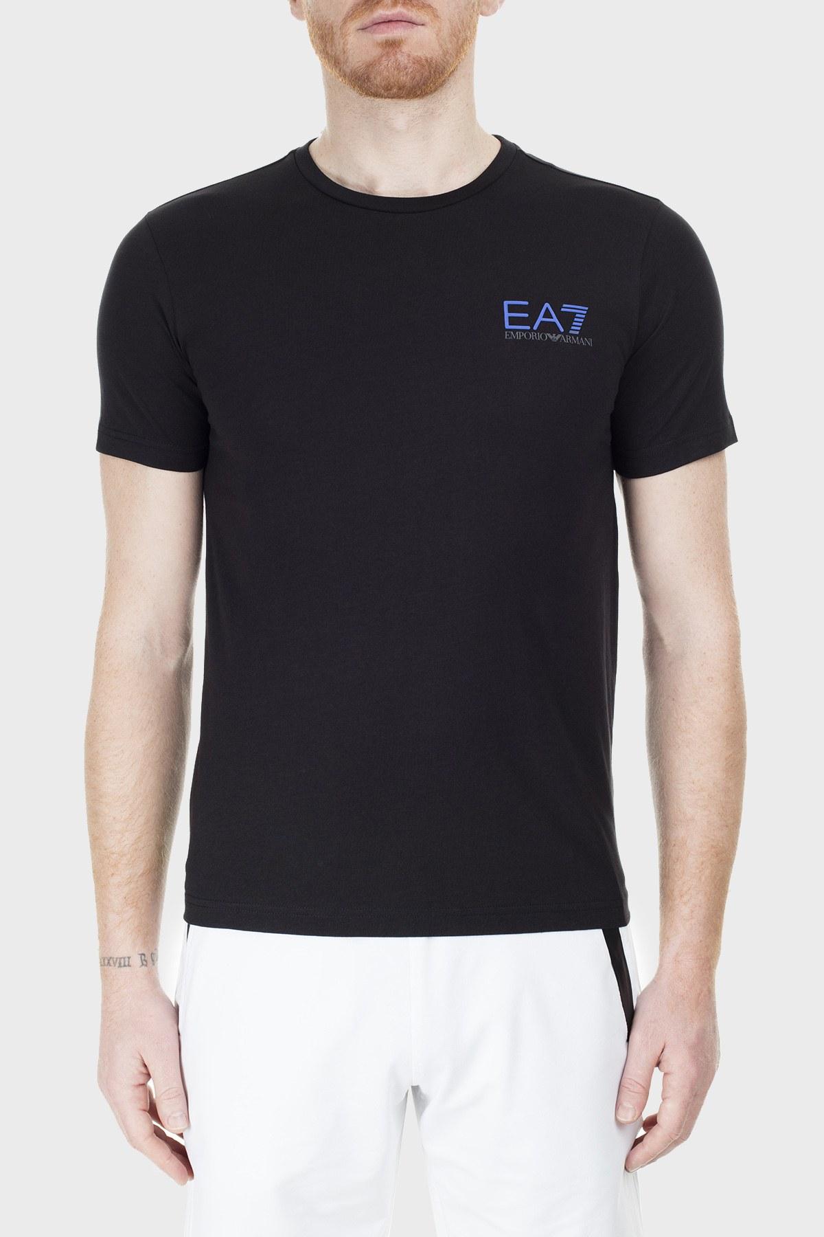 EA7 Regular Fit Erkek T Shirt S 6GPT15 PJ02Z 1200 SİYAH