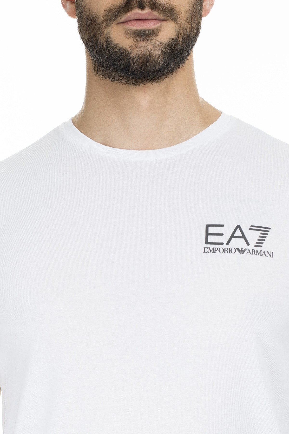 EA7 Erkek Sweat S 6GPT26 PJJ6Z 1100 BEYAZ
