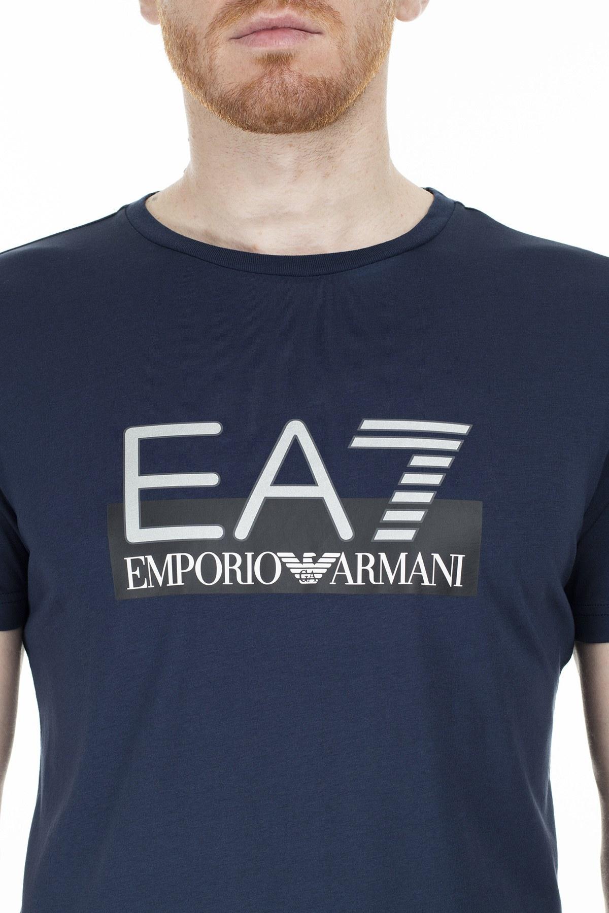 EA7 Regular Fit Erkek T Shirt S 6GPT81 PJM9Z 1554 LACİVERT