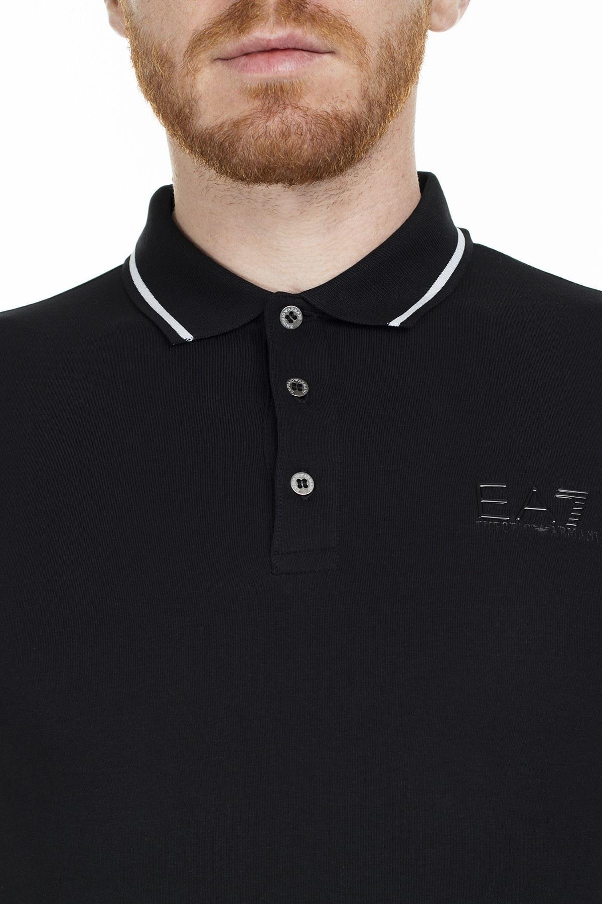 EA7 T Shirt Erkek Polo S 3GPF51 PJM5Z 1200 SİYAH