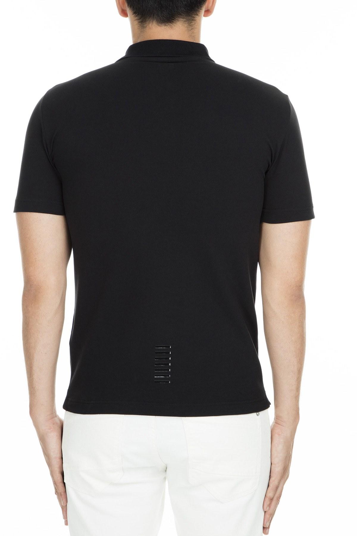 EA7 T Shirt Erkek Polo S 3GPF52 PJ04Z 1200 SİYAH