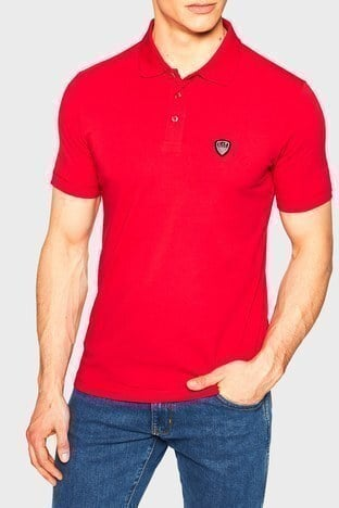Ea7 - EA7 T Shirt Erkek Polo S 8NPF93 PJ03Z 1450 KIRMIZI
