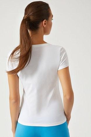 EA7 - EA7 T SHIRT Kadın T Shirt 3ZTT82 TJ12Z 1100 BEYAZ (1)