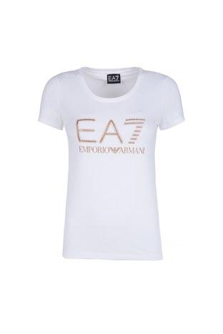 EA7 - EA7 T SHIRT Bayan T Shirt 6YTT25 TJ12Z 1100 BEYAZ