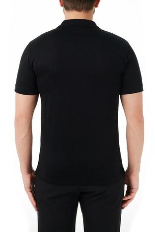 Emporio Armani - Emporio Armani % 100 Pamuk Düğmeli T Shirt Erkek Polo 3K1FC5 1JTUZ 0999 SİYAH (1)