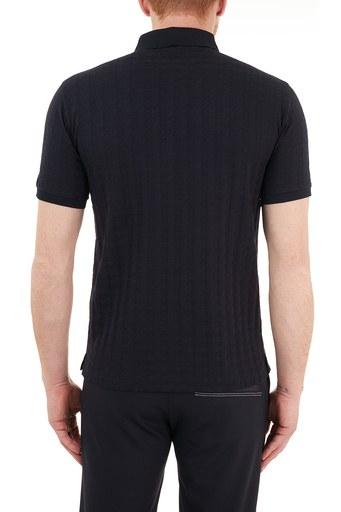 Emporio Armani % 100 Pamuk Düğmeli T Shirt Erkek Polo S 6H1FE5 1JGYZ F957 LACİVERT