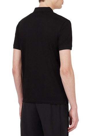 Emporio Armani - Emporio Armani % 100 Pamuk Fermuarlı T Shirt Erkek Polo 3K1FA8 1JTKZ 0999 SİYAH (1)