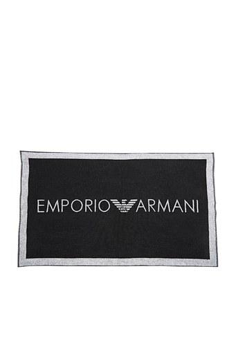 Emporio Armani % 100 Pamuklu Kadın Havlu 262651 1P326 00020 SİYAH