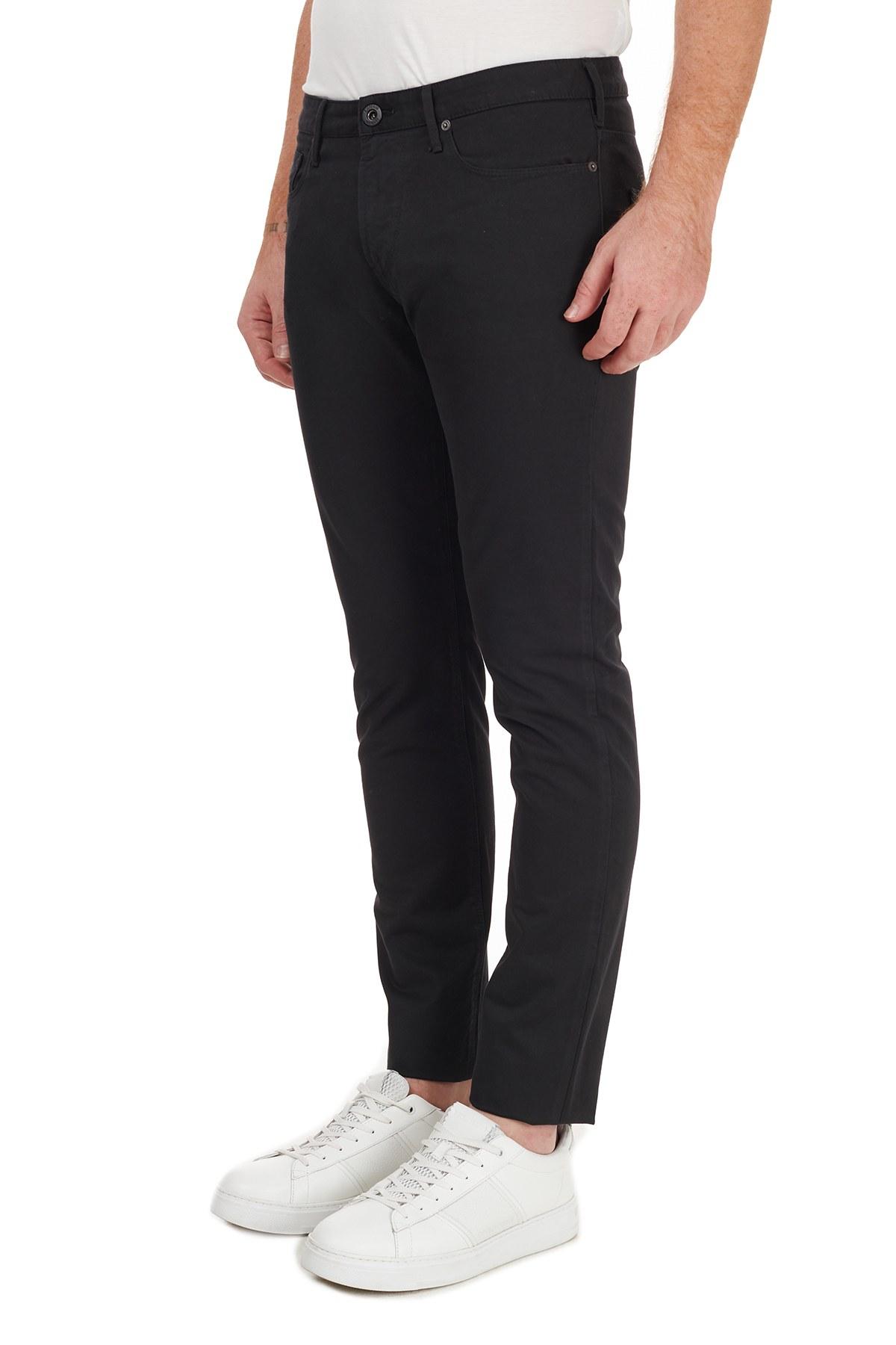 Emporio Armani % 100 Pamuklu Slim Fit J06 Jeans Erkek Kot Pantolon 6H1J06 1NF9Z 0999 SİYAH