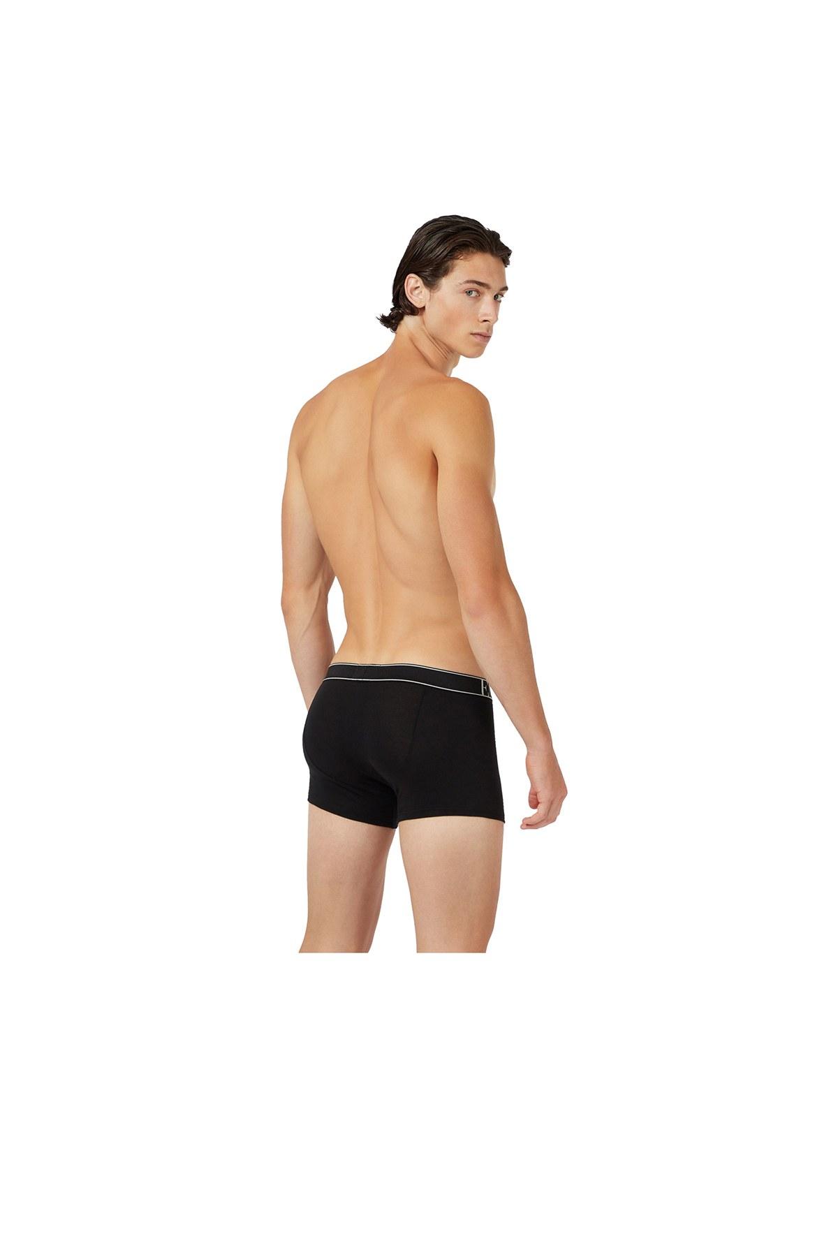 Emporio Armani 2 Pack Pamuklu Erkek Boxer 111769 0A720 23820 SİYAH