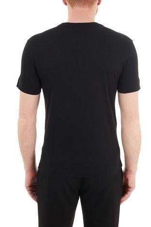 Emporio Armani - Emporio Armani Baskılı Bisiklet Yaka % 100 Pamuk Erkek T Shirt 3K1TE6 1JSHZ 0999 SİYAH (1)