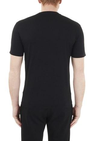 Emporio Armani - Emporio Armani Baskılı Bisiklet Yaka % 100 Pamuk Erkek T Shirt 3K1TM5 1JDXZ 0999 SİYAH (1)