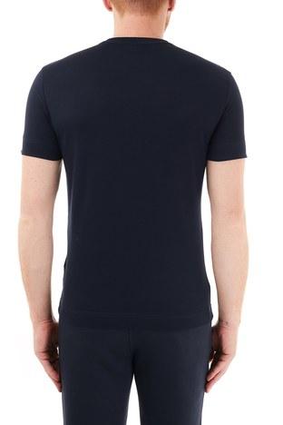 Emporio Armani - Emporio Armani Baskılı Bisiklet Yaka % 100 Pamuk Erkek T Shirt 6H1TQ7 1J30Z 0920 LACİVERT (1)