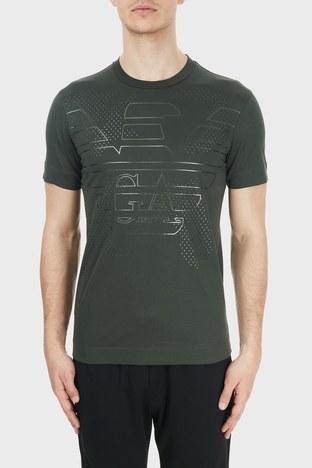 Emporio Armani - Emporio Armani Baskılı Bisiklet Yaka % 100 Pamuk Erkek T Shirt S 6H1TG2 1JTUZ 0564 HAKİ