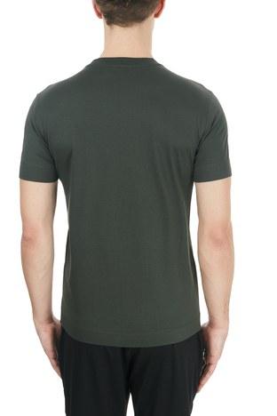 Emporio Armani - Emporio Armani Baskılı Bisiklet Yaka % 100 Pamuk Erkek T Shirt S 6H1TG2 1JTUZ 0564 HAKİ (1)