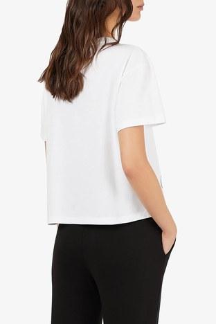 Emporio Armani - Emporio Armani Bayan T Shirt 6K2T7A 2J53Z 0100 BEYAZ (1)