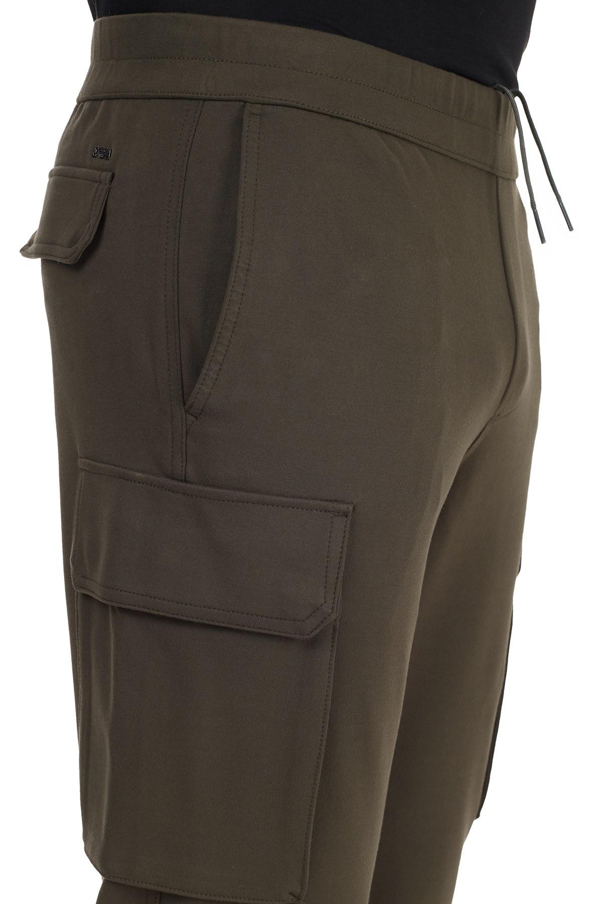 Emporio Armani Belden Bağlamalı Cepli Erkek Pantolon 6H1PM7 1JDRZ 0585 HAKİ