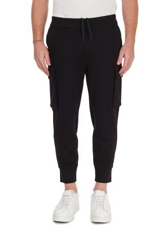Emporio Armani - Emporio Armani Belden Bağlamalı Cepli Erkek Pantolon 6H1PM7 1JDRZ 0999 SİYAH (1)