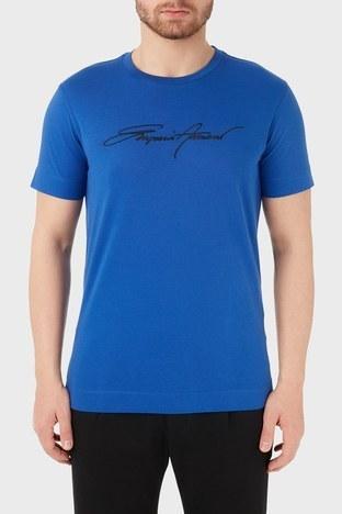 Emporio Armani - Emporio Armani Bisiklet Yaka % 100 Pamuk Erkek T Shirt 3K1TL6 1JULZ 0921 LACİVERT