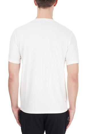 Emporio Armani - Emporio Armani Bisiklet Yaka Pamuklu Erkek T Shirt 6H1TS2 1JJRZ 0101 BEYAZ (1)