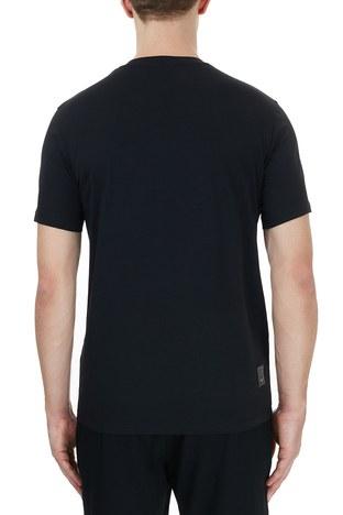Emporio Armani - Emporio Armani Bisiklet Yaka Pamuklu Erkek T Shirt 6H1TS2 1JJRZ 0999 SİYAH (1)