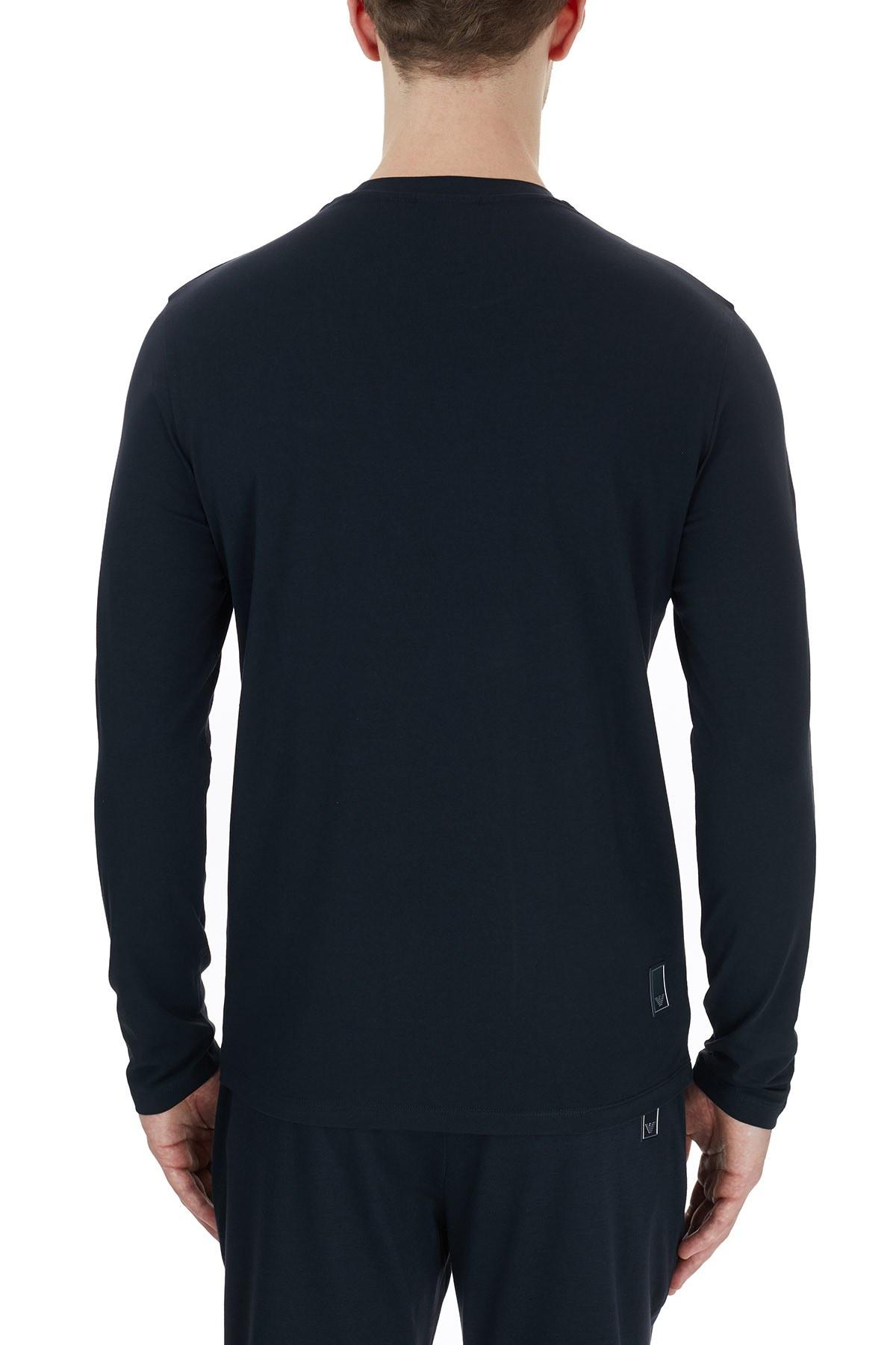 Emporio Armani Bisiklet Yaka Pamuklu Erkek T Shirt 6H1TS3 1JJRZ 0920 LACİVERT