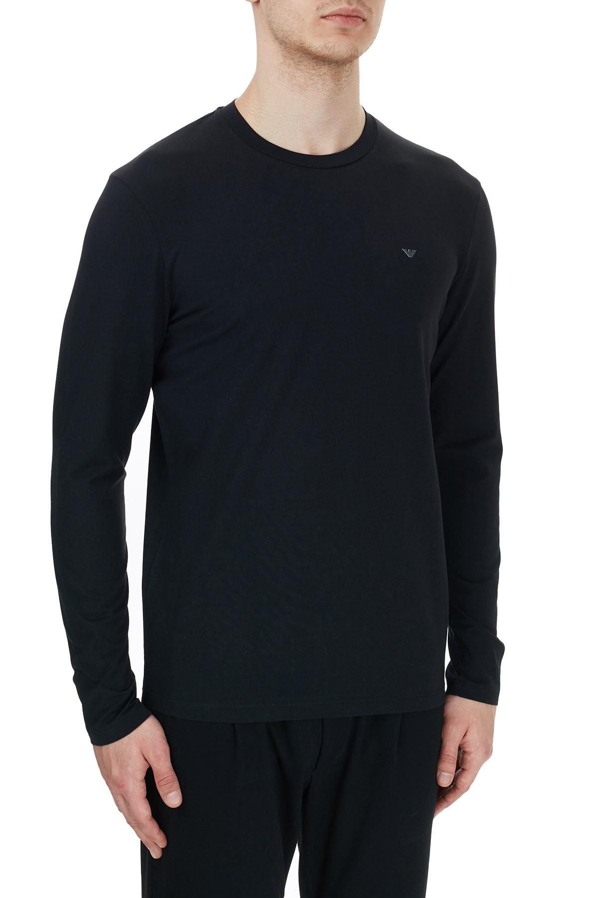 Emporio Armani Bisiklet Yaka Pamuklu Erkek T Shirt 6H1TS3 1JJRZ 0999 SİYAH
