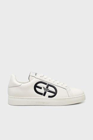 Emporio Armani - Emporio Armani Deri Erkek Ayakkabı X4X540 XM782 N480 BEYAZ