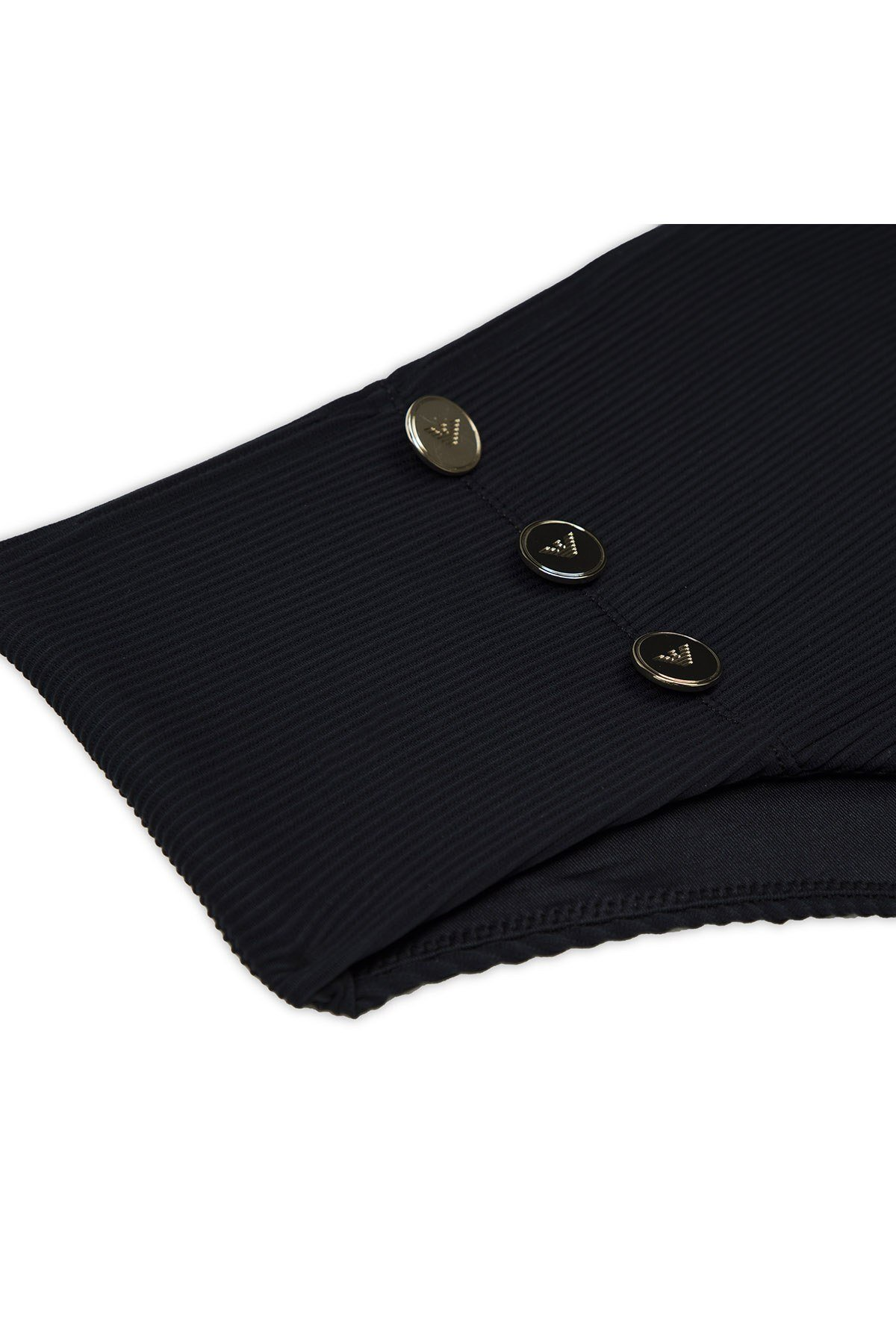 Emporio Armani Düğme Detaylı Yüksek Bel Kadın Bikini 262626 0P307 00020 SİYAH