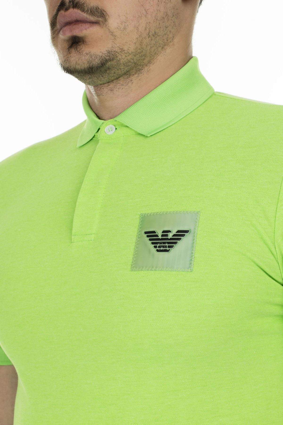 Emporio Armani Düğmeli T Shirt Erkek Polo 3H1F85 1J80Z 0563 YEŞİL