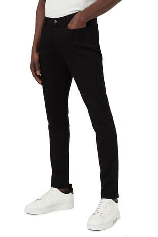 Emporio Armani - Emporio Armani Düşük Bel Extra Slim Fit J11 Jeans Erkek Kot Pantolon 3K1J11 1DHDZ 0005 SİYAH (1)