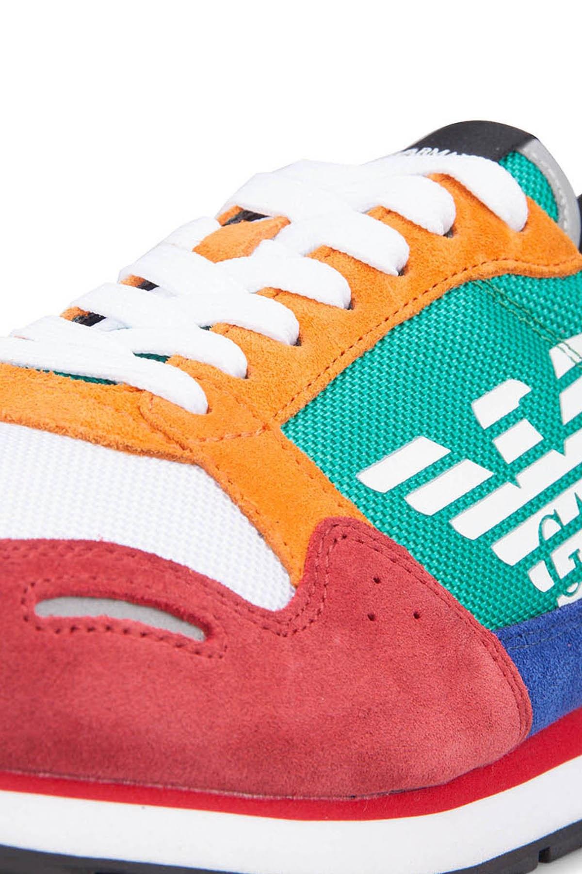 Emporio Armani Erkek Ayakkabı S X4X215 XL200 A005 KIRMIZI-YEŞİL