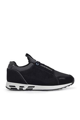 Emporio Armani - Emporio Armani Erkek Ayakkabı S X4X241 XL690 M997 SİYAH