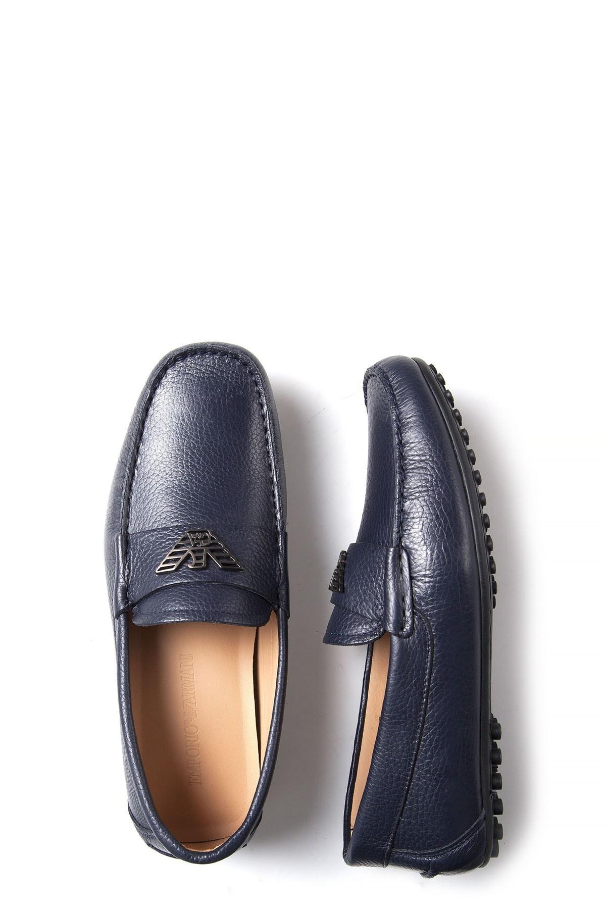 EMPORIO ARMANI Erkek Ayakkabı X4B064 XC542 00006 LACİVERT