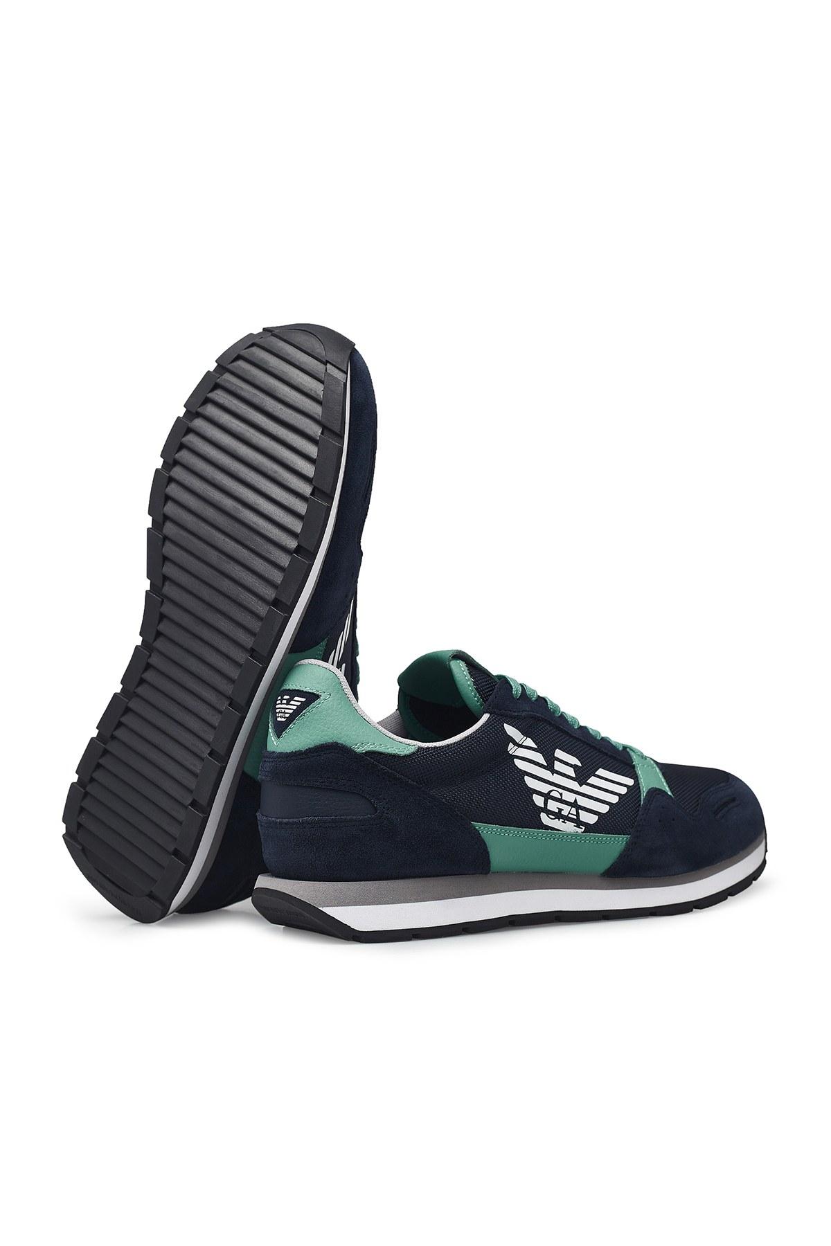 Emporio Armani Erkek Ayakkabı X4X215 XL198 C898 LACİVERT-YEŞİL