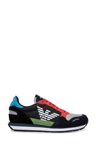 Emporio Armani - Emporio Armani Erkek Ayakkabı X4X215 XL200 A678 LACİVERT-KIRMIZI